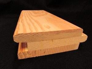 3x6 V Groove Wood