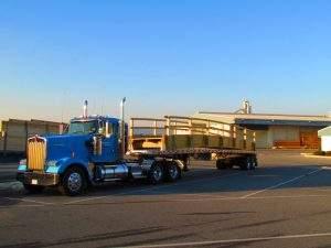 Truck hauling bridge