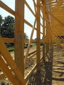 Wooden Post Framework