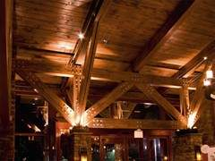 Heavy Timber Trusses with lights