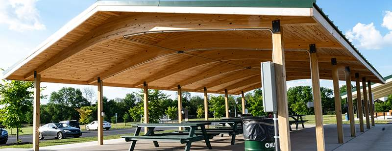 Myerstown Pa Pavilion Grid Rigidply Rafters
